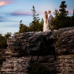 International Society of Wedding Photographers blog - Tobermory Engagement Photos - Kasia and Kyle